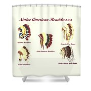 Native American Headdresses Number 4 Shower Curtain