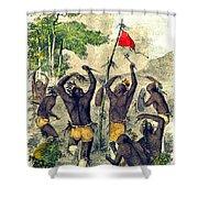 Native American Indian War Dance Shower Curtain