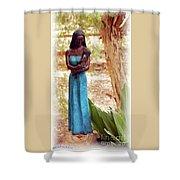 Native American Statue Shower Curtain