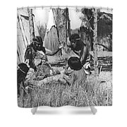 Native American Story Telling Shower Curtain