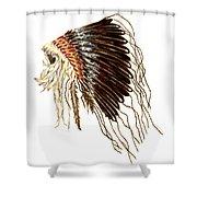 Native American War Bonnet - Plains Indians Shower Curtain