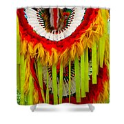 Native American Yellow Feathers Ceremonial Piece Shower Curtain