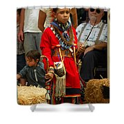 Native American Youth Dancer Shower Curtain