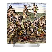 Native Americans: Disease Shower Curtain