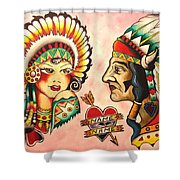 Native Flash Sheet Shower Curtain
