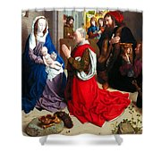 Nativity And Adoration Of The Magi Shower Curtain