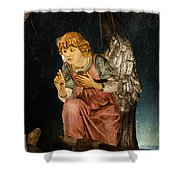 Nativity Angel  Shower Curtain