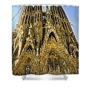 Nativity Facade - Sagrada Familia Shower Curtain
