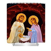 Nativity Night Shower Curtain