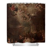 Nativity Of Mary Shower Curtain by Andrea Celesti