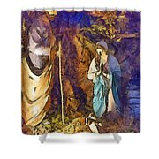 Nativity Scene Shower Curtain