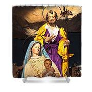 Christmas Nativity Scene Shower Curtain