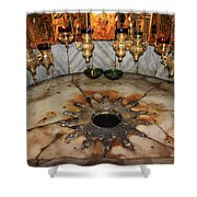 Nativity Star Shower Curtain