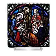Nativity With Kings Shower Curtain