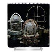 Natuical - Vintage Ship Deck Lights Shower Curtain