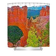 Natural Bridge In Bryce Canyon National Park-utah  Shower Curtain