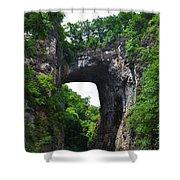 Natural Bridge In Rockbridge County Virginia Shower Curtain