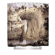 Natural Bridge, Rockbridge County Shower Curtain