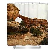 Natural Bridge Southern Utah Shower Curtain by Jeff Swan