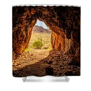 Natural Cave Above The Valley Of Fire Shower Curtain
