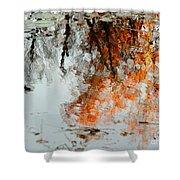 Natural Paint Daubs Shower Curtain