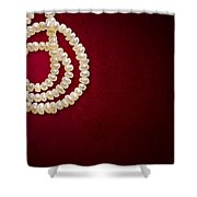 Natural Pearls Necklace Shower Curtain