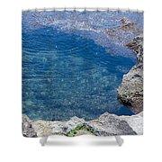 Natural Pool Of Seawater Shower Curtain