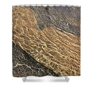 Nature Abstract - Clear Lake Tahoe Water  Shower Curtain