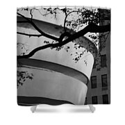 Nature And Architecture In Black And White Shower Curtain