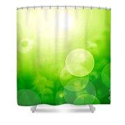 Nature Blur Summer Background.  Shower Curtain