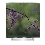 Nature Does Not Hurry Blossoms In Purple Shower Curtain
