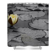 Nature Does Not Hurry Waterlily Shower Curtain