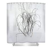 Nature Scribbles Shower Curtain