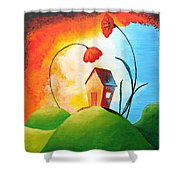 Nature Spills Colour On My House Shower Curtain by Nirdesha Munasinghe
