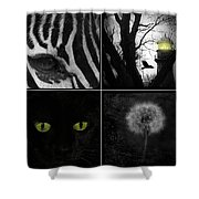 Nature Squares - Collage Shower Curtain