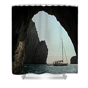 Rock Canopy Shower Curtain