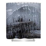 Natures Frozen Cathedral Sculpture Shower Curtain