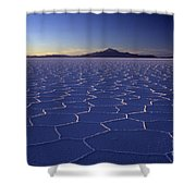 Natures Geometry Salar De Uyuni Shower Curtain