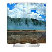 Natures Hot Tub Shower Curtain