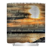 Natures Melody With Text Shower Curtain