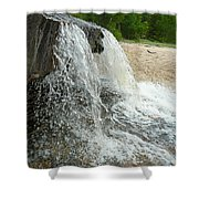 Natures Water Fountain Shower Curtain