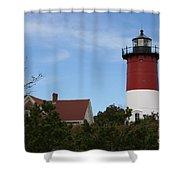 Nauset Beach Light Shower Curtain