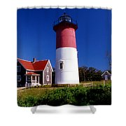 Nausett Lighthouse Shower Curtain