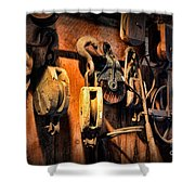 Nautical - Boat - Block And Tackle  Shower Curtain by Paul Ward