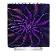 Nautilus Fractalus Moongarden Shower Curtain