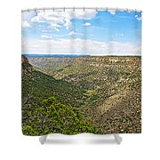 Navajo Canyon Overlook On Chapin Mesa Top Loop Road In Mesa Verde National Park-colorado Shower Curtain