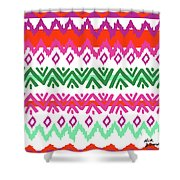 Navajo Mission Round Shower Curtain