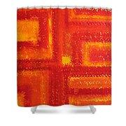 Navajo Rug Original Painting Shower Curtain
