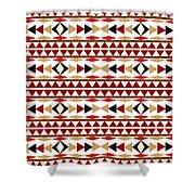 Navajo White Pattern Shower Curtain
