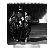 Navajo's Dance  Night Fire Rodeo Grounds Inter-tribal Indian Rodeo Gallup New Mexico 1969 Shower Curtain